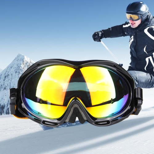 Buy H017 Unisex Dual Layers Anti-fog Windprooof UV Protection Spherical Goggles with Adjustable Widened Strap, Black for $18.37 in SUNSKY store