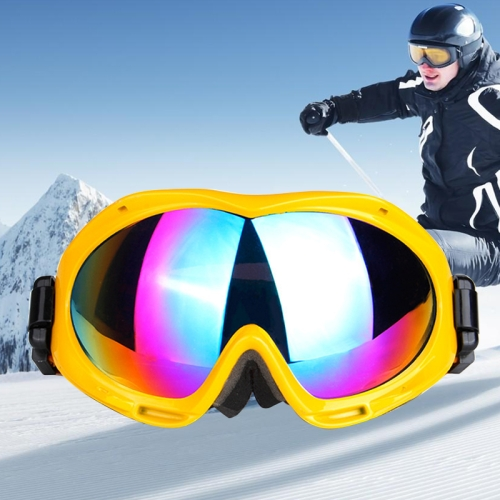 Buy H017 Unisex Dual Layers Anti-fog Windprooof UV Protection Spherical Goggles with Adjustable Widened Strap, Yellow for $18.37 in SUNSKY store