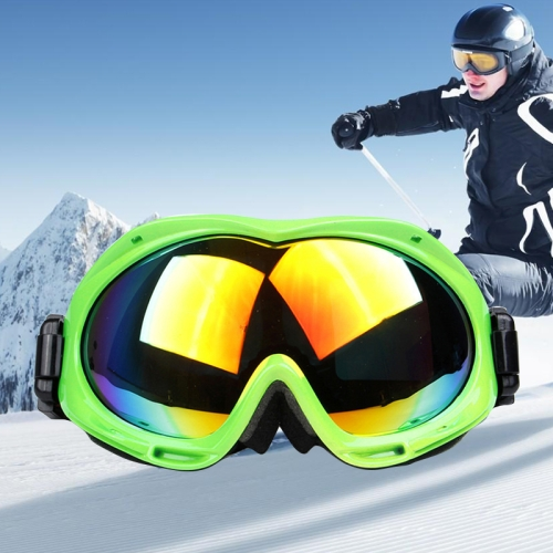 Buy H017 Unisex Dual Layers Anti-fog Windprooof UV Protection Spherical Goggles with Adjustable Widened Strap, Green for $18.37 in SUNSKY store