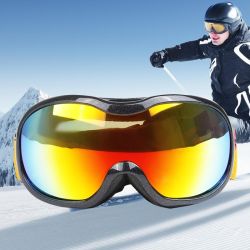 Buy H107 Unisex Dual Layers Anti-fog Windprooof UV Protection Spherical Goggles with Adjustable Widened Strap, Black for $16.26 in SUNSKY store