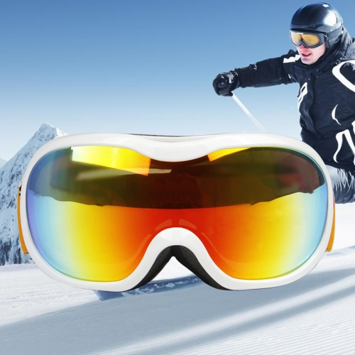 Buy H107 Unisex Dual Layers Anti-fog Windprooof UV Protection Spherical Goggles with Adjustable Widened Strap, White for $16.26 in SUNSKY store