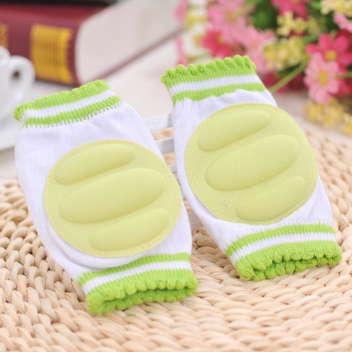 Buy One Pair Ventilated Children Baby Crawling Walking Knee Guard Elbow Guard Protecting Pads, Green for $1.18 in SUNSKY store