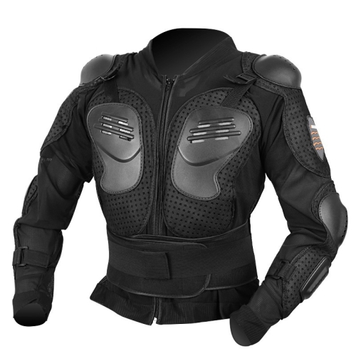 Anti-fall Armor Motocross Racing Suit Adult Shockproof Suit, Size: 2XL (Black)