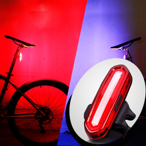 WEIHUIMEI 1 UNID USB Recargable Bicicleta Trasera Luz Roja LED Luz Trasera de Bicicleta Luz de Advertencia Luz Trasera de Seguridad Trasera