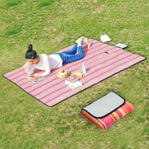 Buy 600D Waterproof Oxford Foldable Cloth Outdoor Beach Camping Mat Picnic Blanket, Size: 150*130cm, Random Color Delivery for $3.28 in SUNSKY store