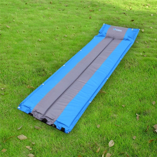 Buy Outdoor Camping Mat Tent Moisture-Proof Mattress Bed Colorful Folding Sleeping Pad Automatic Inflatable Mat with Pillow, Size: 183x55x3cm, Blue for $11.27 in SUNSKY store