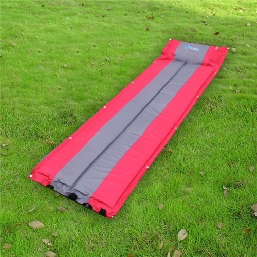 Buy Outdoor Camping Mat Tent Moisture-Proof Mattress Bed Colorful Folding Sleeping Pad Automatic Inflatable Mat with Pillow, Size: 183x55x3cm, Magenta for $11.28 in SUNSKY store