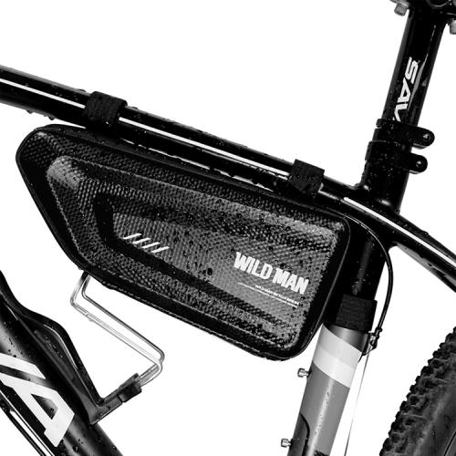 WILD MAN Mountain Bicycle Accessories Waterproof MTB Front Bike Phone Holder Bag