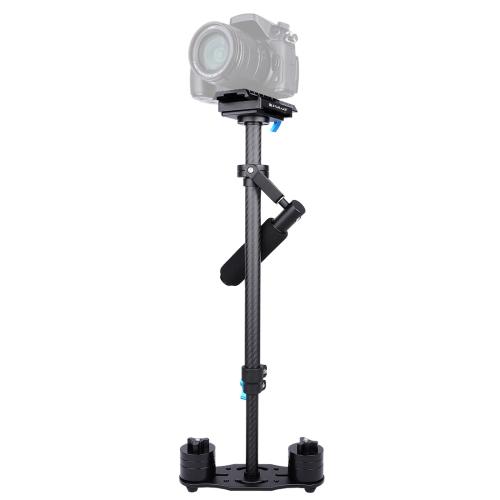 PULUZ 38.5-61cm Carbon Fibre Handheld Stabilizer for DSLR & DV Digital Video & Cameras, Load Range: 0.5-3kg(Black) puluz professional p60t camera stabilizer 60cm handheld dslr steadycam stabilizer for slr dslr camera camcorder and canon dvs