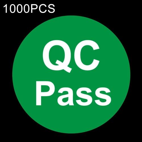 1000 PCS Round Shape QC Pass Sticker QC Pass Label (Green)