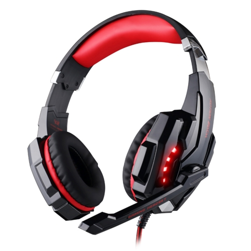 Buy KOTION EACH G9000 3.5mm Game Gaming Headphone Headset Earphone Headband with Microphone LED Light for Laptop / Tablet / Mobile Phones,Cable Length: About 2.2m (Red + Black) for $11.95 in SUNSKY store