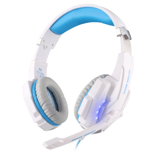 Buy KOTION EACH G9000 3.5mm Game Gaming Headphone Headset Earphone Headband with Microphone LED Light for Laptop / Tablet / Mobile Phones,Cable Length: About 2.2m (White + Blue) for $11.89 in SUNSKY store