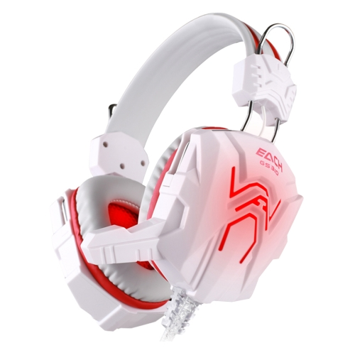 KOTION EACH GS310 Stereo Gaming Headphone Computer Game Headset Headband with Microphone Glaring LED Light,Cable Length: About 2.2m