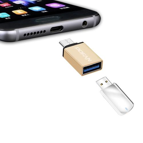 Buy POFAN P19 USB-C / Type-C to USB 3.0 Reader Adapter for $1.49 in SUNSKY store