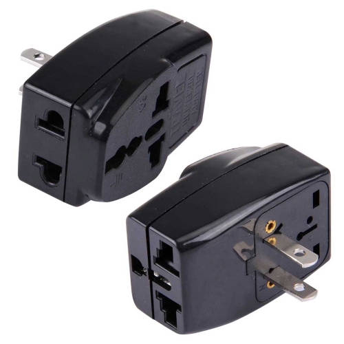 WDS-6 Portable Universal Plug to US Plug Adapter Power Socket Travel Converter