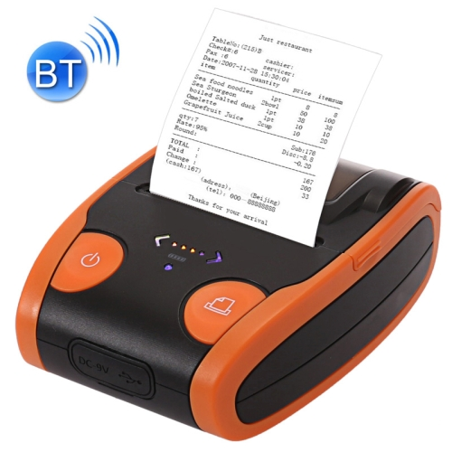 QS-5806 Portable 58mm Bluetooth POS Receipt Thermal Printer(Orange) high quality pos 8220 usb 80mm thermal receipt printer zj usb pos receipt printer auto cut ticket printer
