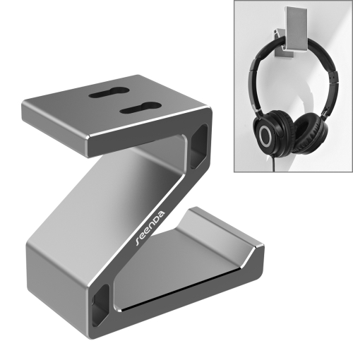 Buy Seenda Universal Multi-function Aluminum Z Hook Headphone Hanger Desk Headset Stand Holder, Silver for $6.12 in SUNSKY store