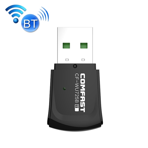Buy COMFAST CF-WU725B Ultra Mini 150Mbps High-Speed Portable Mobile Officing WiFi WLAN Transmitter Receiver Bluetooth Wireless Adapter Network Card with Bilit-in Smart Antenna, Size: 4.0 * 2.0 * 0.8 cm for $8.50 in SUNSKY store
