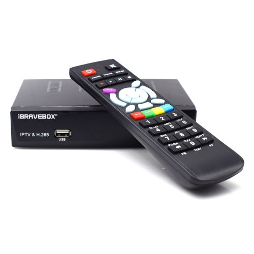 iBRAVEBOX F10S Plus TV Box Satellite Receiver with Remote Control, Support DVB-SS2 / H.265 / ACM / VCM / HDMI