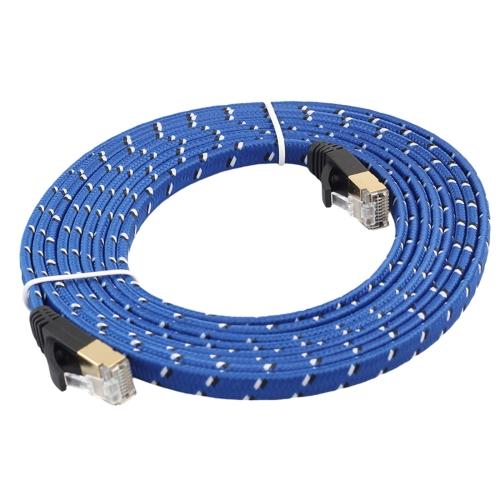Built with Shielded RJ45 Connectors Cables /& Accessories 15m CAT7 10 Gigabit Ethernet Ultra Flat Patch Cable for Modem Router LAN Network