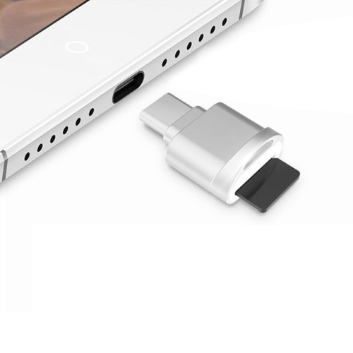 POFAN F05 USB-C / Type-C 3.1 to Micro SD Card (TF Card) Reader Adapter for Macbook / Google Chromebook / Nokia N1 Tablet PC / OTG Function Smartphones(Silver) фото