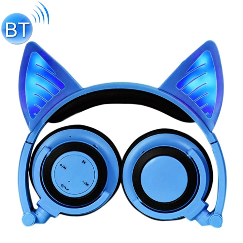 Buy Foldable Wireless Bluetooth V4.2 Glowing Cat Ear Headphone Gaming Headset with LED Light & Mic for $17.93 in SUNSKY store
