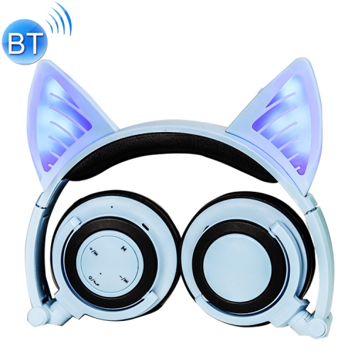 Buy Foldable Wireless Bluetooth V4.2 Glowing Cat Ear Headphone Gaming Headset with LED Light & Mic for $19.09 in SUNSKY store