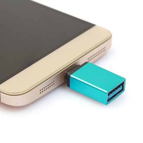 Aluminum Alloy USB-C / Type-C 3.1 Male to USB 3.0 Female Data / Charger Adapter, For Galaxy S8 & S8 + / LG G6 / Huawei P10 & P10 Plus / Xiaomi Mi 6 & Max 2 and other Smartphones(Blue)