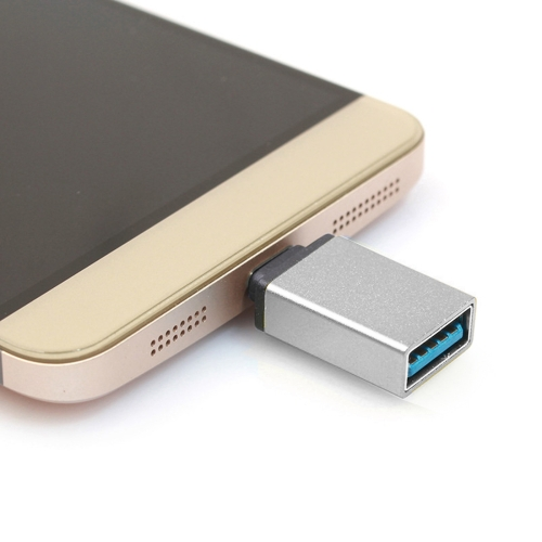 Aluminum Alloy USB-C / Type-C 3.1 Male to USB 3.0 Female Data / Charger Adapter, For Galaxy S8 & S8 + / LG G6 / Huawei P10 & P10 Plus / Xiaomi Mi 6 & Max 2 and other Smartphones(Silver)