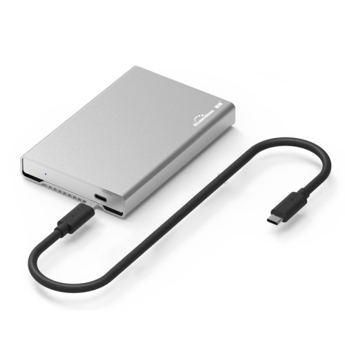 Blueendless U23Q SATA 2.5 inch Micro B Interface HDD Enclosure with USB-C / Type-C to USB-C / Type-C Cable, Support Thickness: 1cm or less