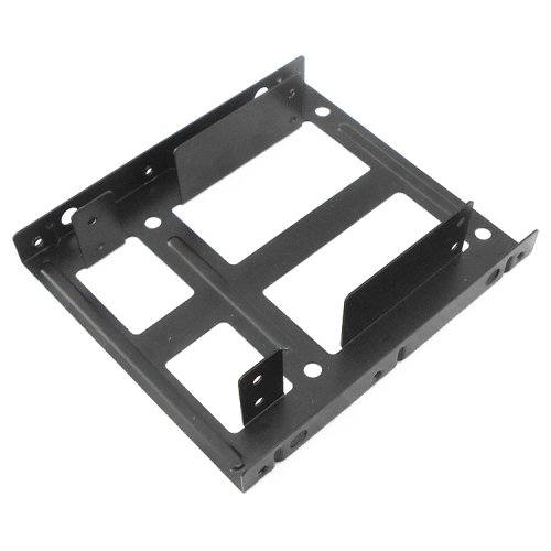 SATA 2.5 inch to 3.5 inch Double Disk SSD Metal Bracket(Black)