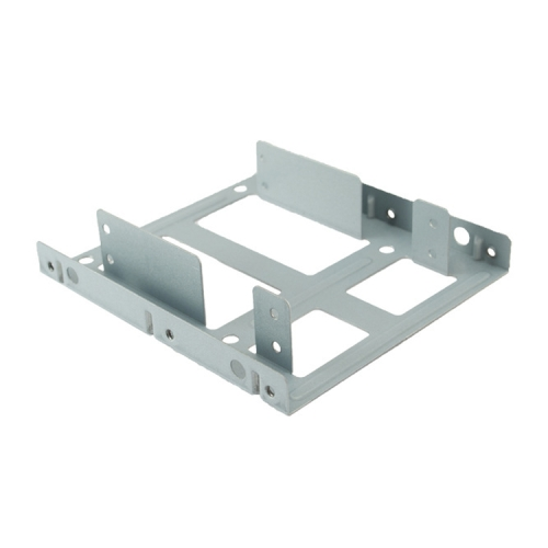 SATA 2.5 inch to 3.5 inch Double Disk SSD Metal Bracket (White)