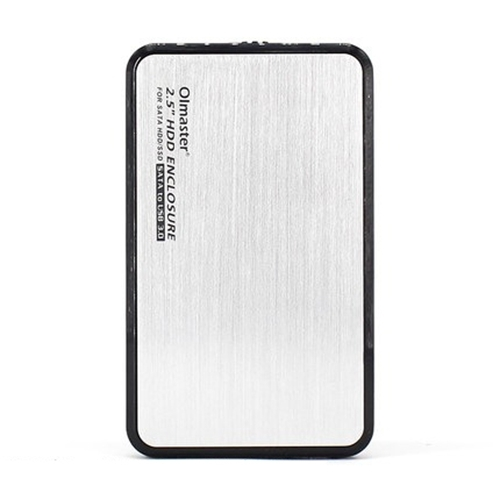 OImaster EB-2506U3 SATA USB 3.0 Interface Aluminum Panel HDD Enclosure for Laptops, Support Thickness: 7.0-12.5mm (White)