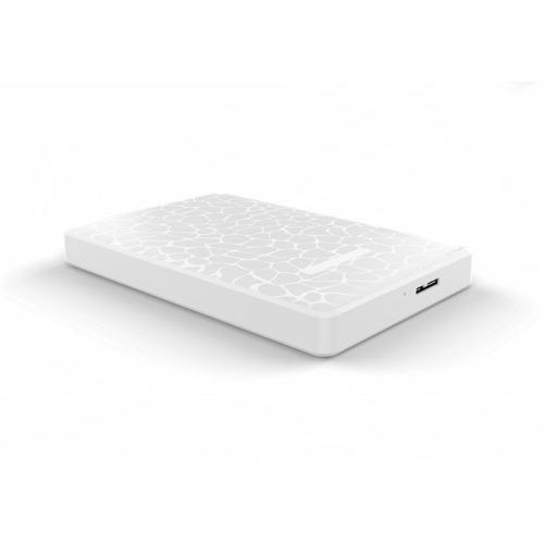 SATA 2.5 inch 2TB USB 3.0 Interface Ice Crack Texture HDD Enclosure(White)