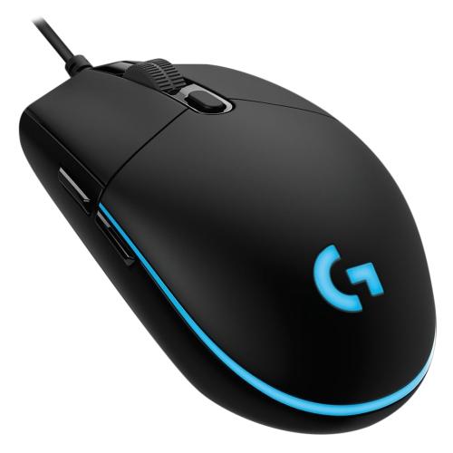 Logitech G Pro 16000DPI RGB Illumination Macro Programming Wired Optical Gaming Mouse, Length: 1.8m (Black)