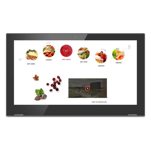 HSD1703 Touch Screen All in One PC with Holder, 1GB+8GB 17.3 inch LCD Android 6.0 RK3368 Octa-core Cortex A53 1.5G, Support OTG & Bluetooth & WiFi all in one computer 10 4inch intel atom d2550 industrial panel pc with resistance touch screen 16g ssd 2g ram affordable pc