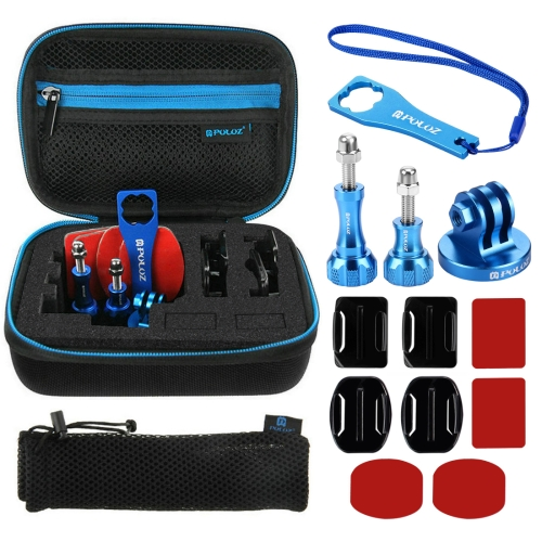 Buy PULUZ 13 in 1 CNC Metal Accessories Combo Kits with EVA Case (Screws + Surface Mounts + Tripod Adapter + Storage Bag + Wrench) for GoPro HERO6 /5 /5 Session /4 Session /4 /3+ /3 /2 /1, Xiaoyi and Other Action Cameras for $8.90 in SUNSKY store