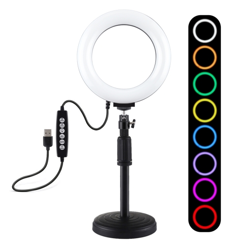 Convenient to use an 10.2 inch 26cm LED Ring Vlogging Video Light Kits with Cold Shoe Tripod Ball Head /& Phone Clamp Lightweight and portable design Camera fill light 140cm Round Base Desktop Mount
