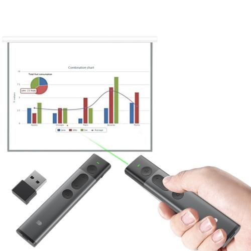 VINSIC DOOSL DSIT032 2.4GHz Wireless Laser Presenter Laser Pointer Green Laser