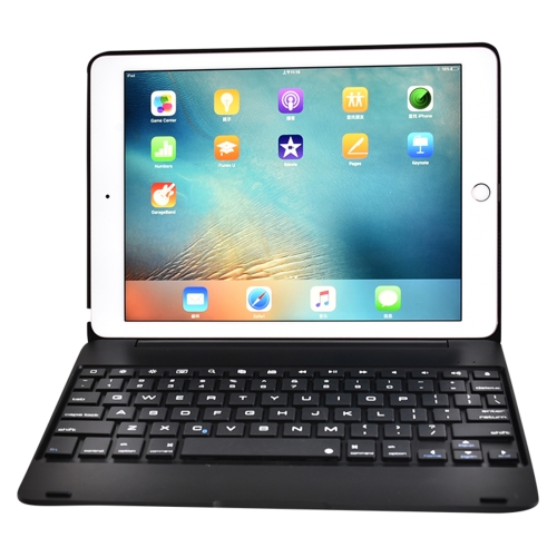 F19B for iPad 9.7 (2018) & iPad Air & Air 2 & iPad Pro 9.7 & New iPad 9.7 inch (2017) Ultra-thin ABS Horizontal Flip Case + Bluetooth Keyboard(Black) aluminum keyboard for ipad 2017 air2 tablet case ultra thin stand removable wireless bluetooth pu leather for ipad pro 9 7 cover