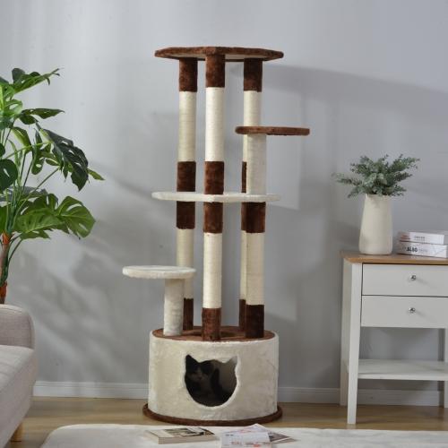 [JPN Warehouse] 145cm Multilayer Cat Climbing Frame Tree Nest Activity Tower Pet House фото