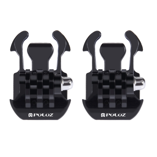 2 PCS PULUZ Horizontal Surface Quick Release Buckle for GoPro NEW HERO /HERO6 /5 /5 Session /4 Session /4 /3+ /3 /2 /1, Xiaoyi and Other Action Cameras feiyu tech wg2 fy wearable gimbal waterproof stabilizer for gopro hero 5 session 4 session and similar size sports camera
