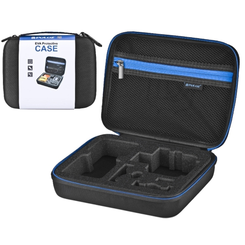 [US Stock] PULUZ Waterproof Carrying and Travel Case for GoPro NEW HERO /HERO6 /5 /4 Session /4 /3+ /3 /2 /1, Puluz U6000 and other Sport Cameras Accessories, Medium Size: 23cm x 17cm x 7cm