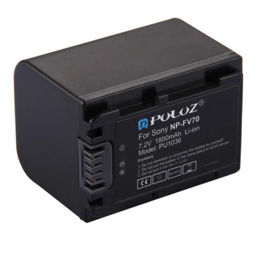 PULUZ NP-FV70 7.2V 1800mAh Li-ion Battery for Sony NEX-VG30EM / NEX-VG30EH / NEX-VG900E / HDR-CX900E / HDR-CX450 etc.