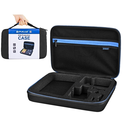 PULUZ Waterproof Carrying and Travel Case for DJI Osmo Action, GoPro NEW HERO /HERO7 /6 /5 /5 Session /4 Session /4 /3+ /3 /2 /1, Xiaoyi and Other Action Cameras Accessories, Large Size: 32cm x 22cm x 7cm