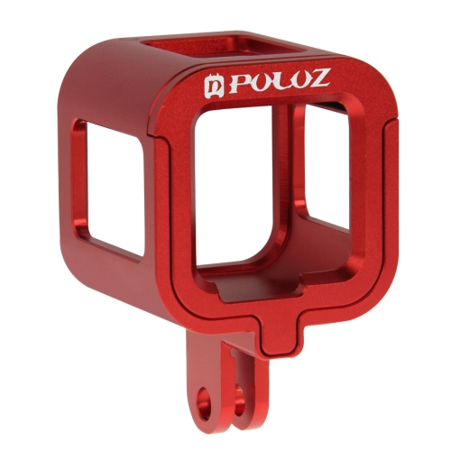 PULUZ Housing Shell CNC Aluminum Alloy Protective Cage with Insurance Frame for GoPro HERO5 Session /HERO4 Session /HERO Session(Red)
