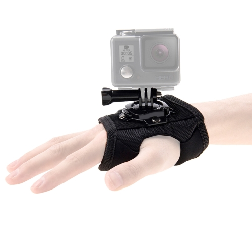 PULUZ 360 Degree Rotation Glove Style Palm Strap Mount Band for GoPro NEW HERO /HERO6 /5 /5 Session /4 Session /4 /3+ /3 /2 /1, Xiaoyi and Other Action Cameras feiyu tech wg2 fy wearable gimbal waterproof stabilizer for gopro hero 5 session 4 session and similar size sports camera