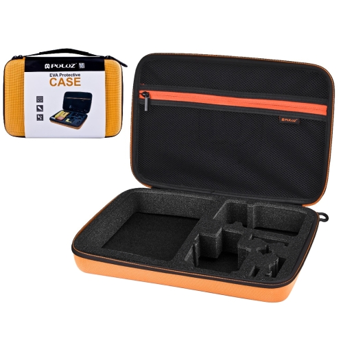 PULUZ Waterproof Carrying and Travel Case for GoPro NEW HERO /HERO6 /5 /4 Session /4 /3+ /3 /2 /1, Puluz U6000 and other Sport Cameras Accessories, Large Size: 32cm x 22cm x 7cm(Orange)