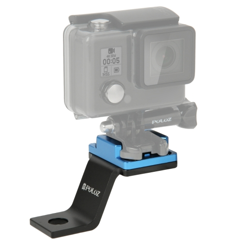 PULUZ Fixed Metal Motorcycle Holder Mount for GoPro HERO8 Black / Max / HERO7, DJI OSMO Action, Xiaoyi and Other Action Cameras(Blue)