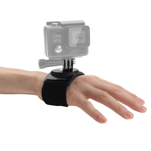 PULUZ 3 in 1 Hand Wrist Arm Leg Straps 360-degree Rotation Mount for GoPro NEW HERO /HERO7 /6 /5 /5 Session /4 Session /4 /3+ /3 /2 /1, DJI Osmo Action, Xiaoyi and Other Action Cameras(Black)